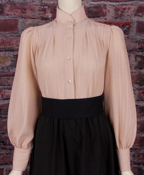 Ladies Annie Pleated Victorian Old West Blouse