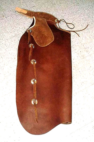 Leather Batwing Chaps with Conchos