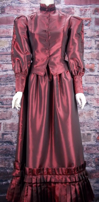ladies frontier classic 2 piece old west taffeta suit otp