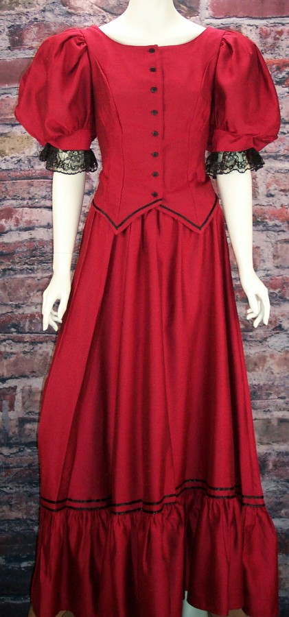 edc3ab8efde7 Ladies Old West Frontier Victorian Antique Satin Dress Ensemble. This  lovely two-piece ...