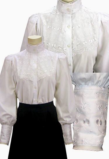 Laura Frontier White Lace Ladies Blouse