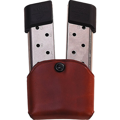 Leather Friction Double Clip / Magazine Belt Pouch