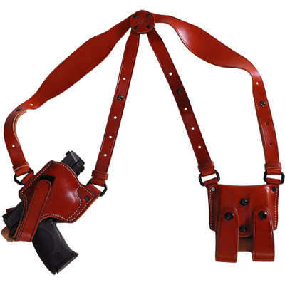 Horizontal Shoulder Holster with Double Clip Pouch