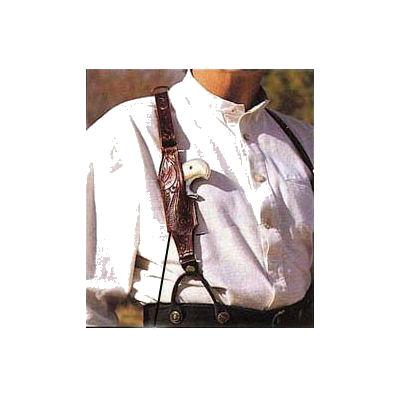 Leather Suspenders Floral Carved With Derringer Holster S