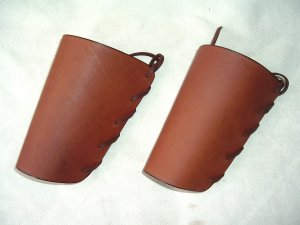 Leather Western Cowboy Laced Shooter's Cuffs