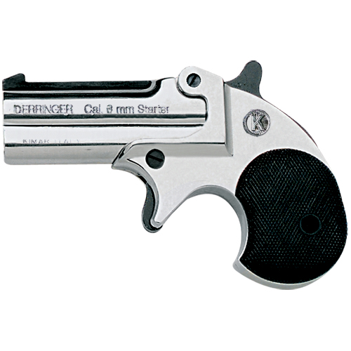 M1866 22 Caliber Double Barrel Old West Blank Firing Nickel Finish Pistol