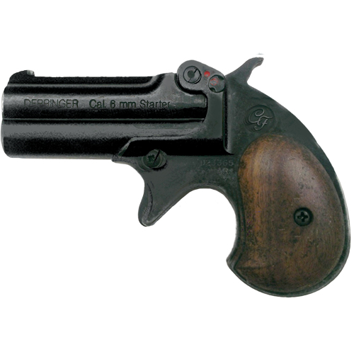 M1866 22 Caliber Doubled Barrel Old West Black Derringer Blank Firing Pistol