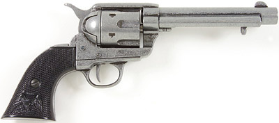 M1873 Antigue Grey Finish Replica Revolver With Black Grips