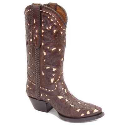 Maria Hand Tooled Leather Cowboy Boots