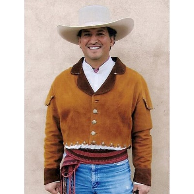 Mens Deerskin Leather Vaquero Short Waist Jacket