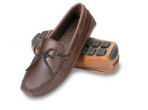 Men's Double Bottom Cowhide Driving Moccasins