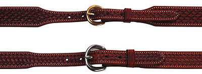Men's Western Cowboy Tapered Leather Dress Belt
