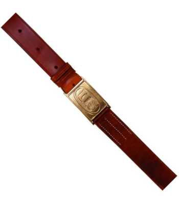 1874 Leather Belt with US Embossed Buckle