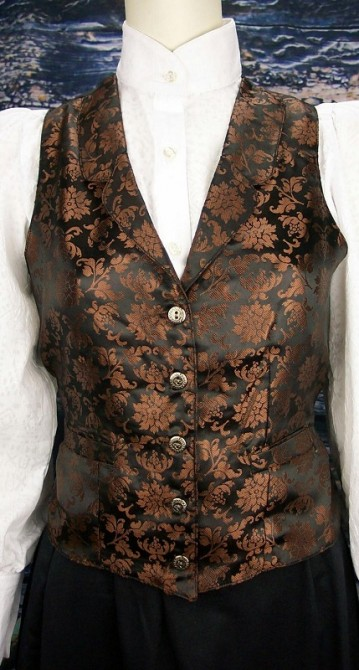 Miss Kitty Ladies Fancy Frontier Jacquard Western Saloon Keepers Vest