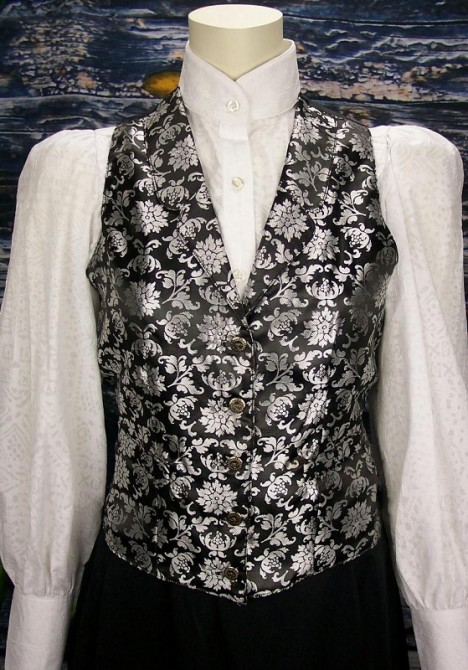 Ms. Kitty's Saloon Floral Jacquard Old Frontier Western Vest