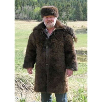 American Bison Buffalo Hair On Short Coat