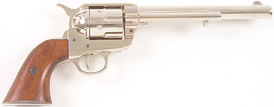 Nickel Finish 7 1/2-Inch Barrel M1873 Replica Revolver