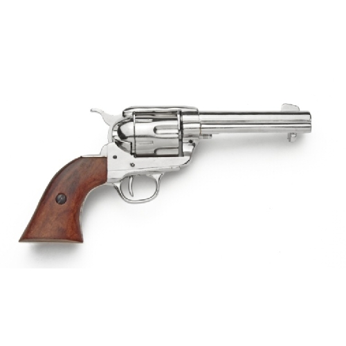 Old West Nickel Finish Revolver