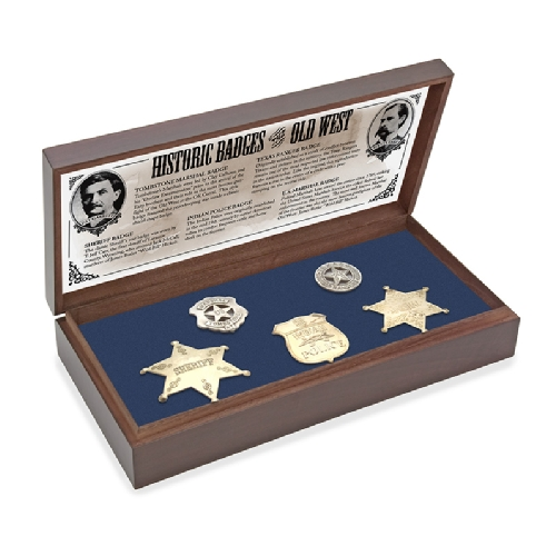 Old West Texas Ranger U.S. Marshall Indian Police Sheriff Badge Box Set