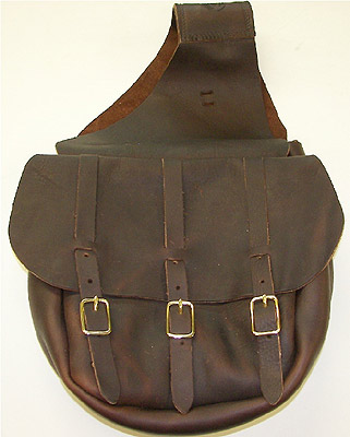 Plain Leather Western Cavalry Saddlebags