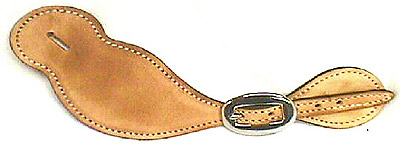 Plain Tear Drop Leather Western Spur Strap