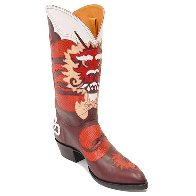 Rinjin Handmade Leather Cowboy Boots