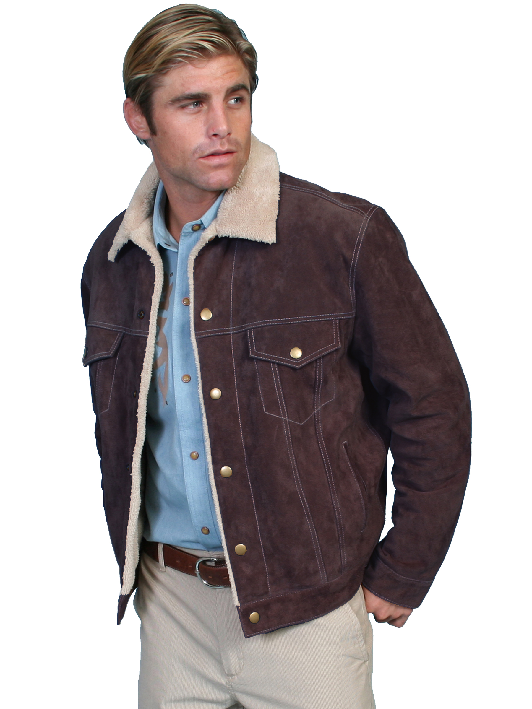 Scully's Men's Boar Suede Lined Leather Jacket