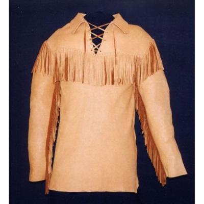 Palomino Buckskin Pullover Scout Shirt With Fringe