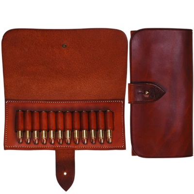 SHARPS BOX Sharps Rifle Cartridge 12 Loop Leather Pouch