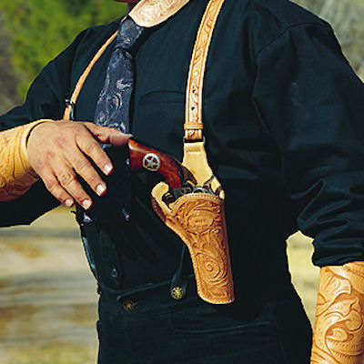 Sheriff's Model SAA Revolver Holster with Suspenders