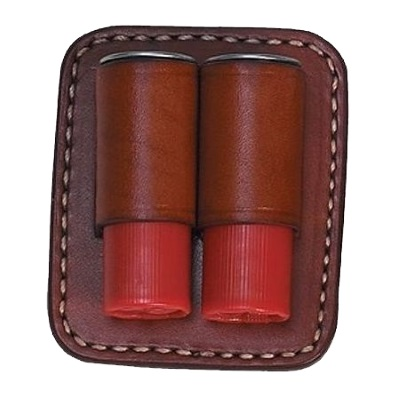Shotgun Shells 2 Loop Leather Spare Clip On Shell Carrier