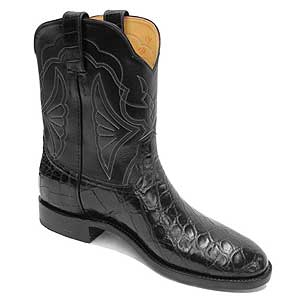 Smooth Crocodile Roper Western Boots