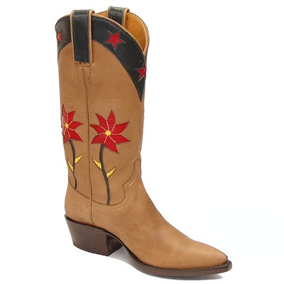 Spiny Rose Handmade Leather Cowboy Boots