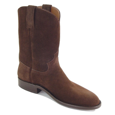 Suede Roper Handmade Cowboy Boots