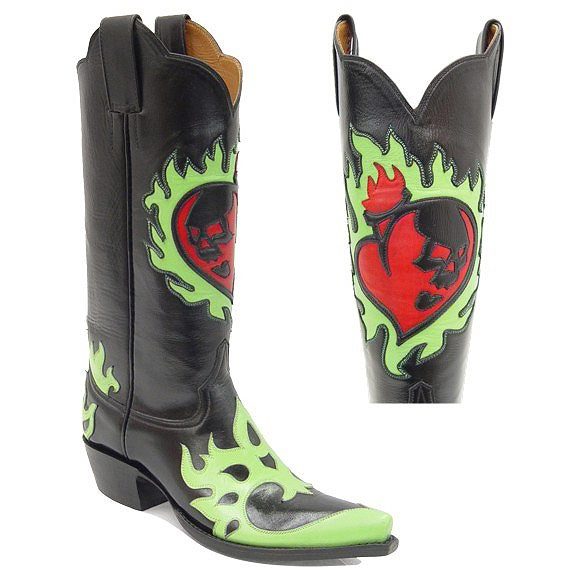 Tattoo Handmade Leather Cowboy Boots