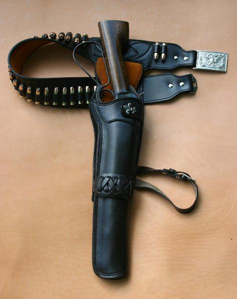 The Ranch Hand Cartridge Gun Belt And Mares Leg Side