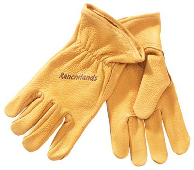 Western Cowboy Buckskin Leather Ranch Hands Gloves