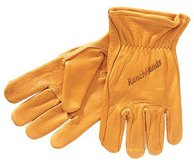 Western Cowboy Elkskin Leather Ranch Hands Gloves