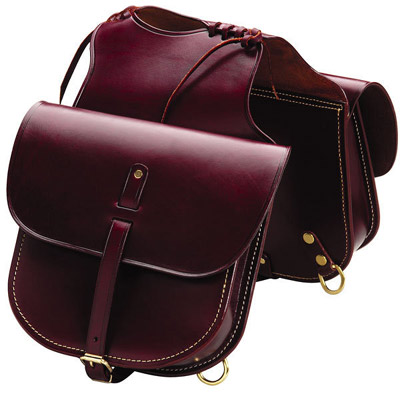Western Cowboy Leather Pommel Bag