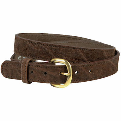 Western Style African Elephant Hide Belt Black, Brown or Gray