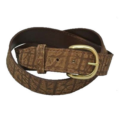 Western Style Cape Buffalo Hide Belt Black or Brown