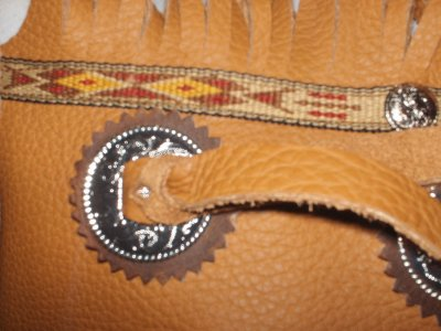 Handmade Custom Leather Chinks