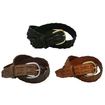 Western Style Nile Hornback Alligator Belts