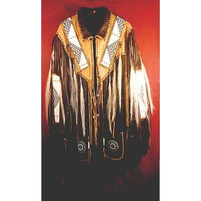 Handmade Elk and Deer Hide Braided Jacket